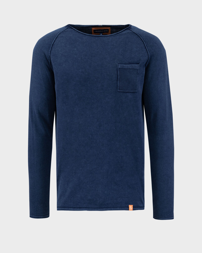 Sweter Colours & Sons 9121-100_699 MIDNIGHT granatowy - fot:1
