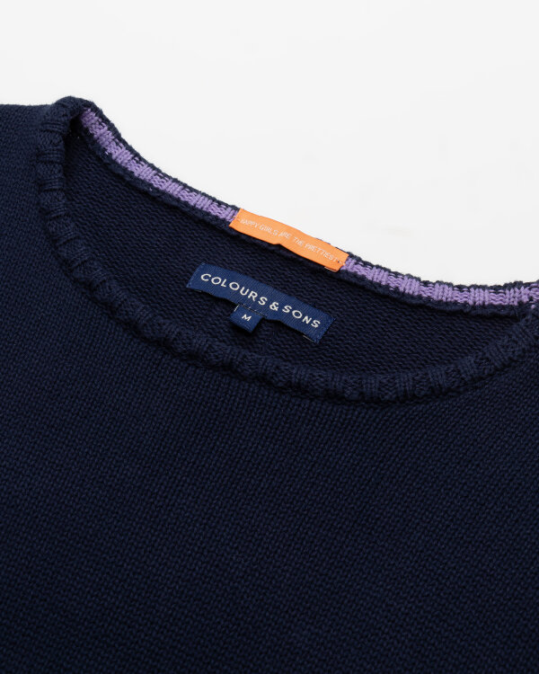 Sweter Colours & Sons 9121-138_911 PALMS granatowy