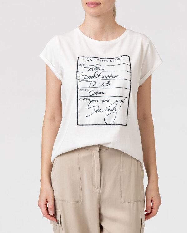 T-Shirt One More Story 101619_2001 kremowy
