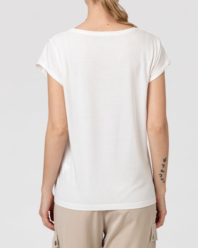 T-Shirt One More Story 101619_2001 kremowy - fot:4