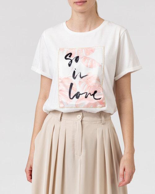 T-Shirt One More Story 101740_3001 kremowy
