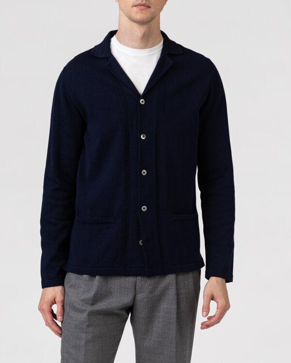 Sweter Lardini ELSHIRT_EL56001_850 granatowy