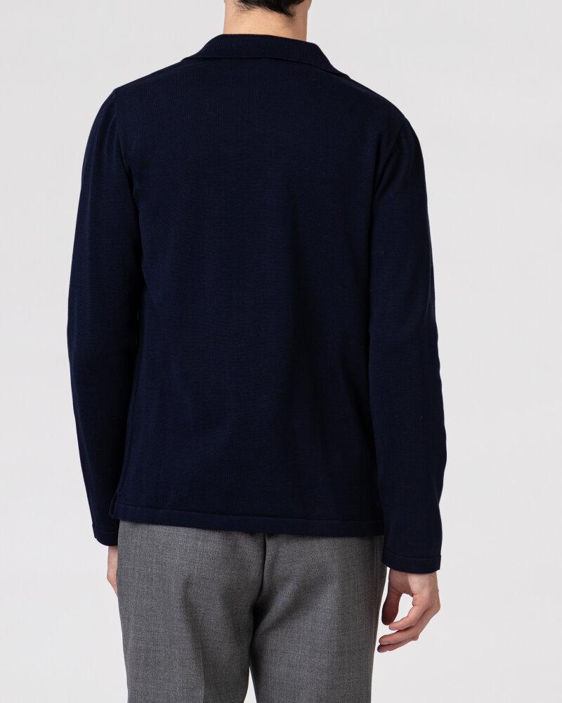 Sweter Lardini ELSHIRT_EL56001_850 granatowy - fot:4