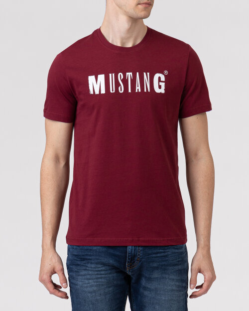 T-Shirt Mustang 1005454_7184 bordowy