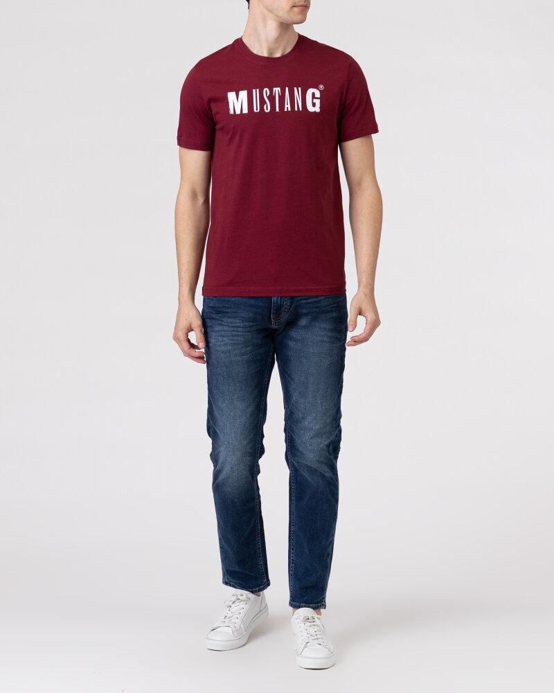 T-Shirt Mustang 1005454_7184 bordowy - fot:5
