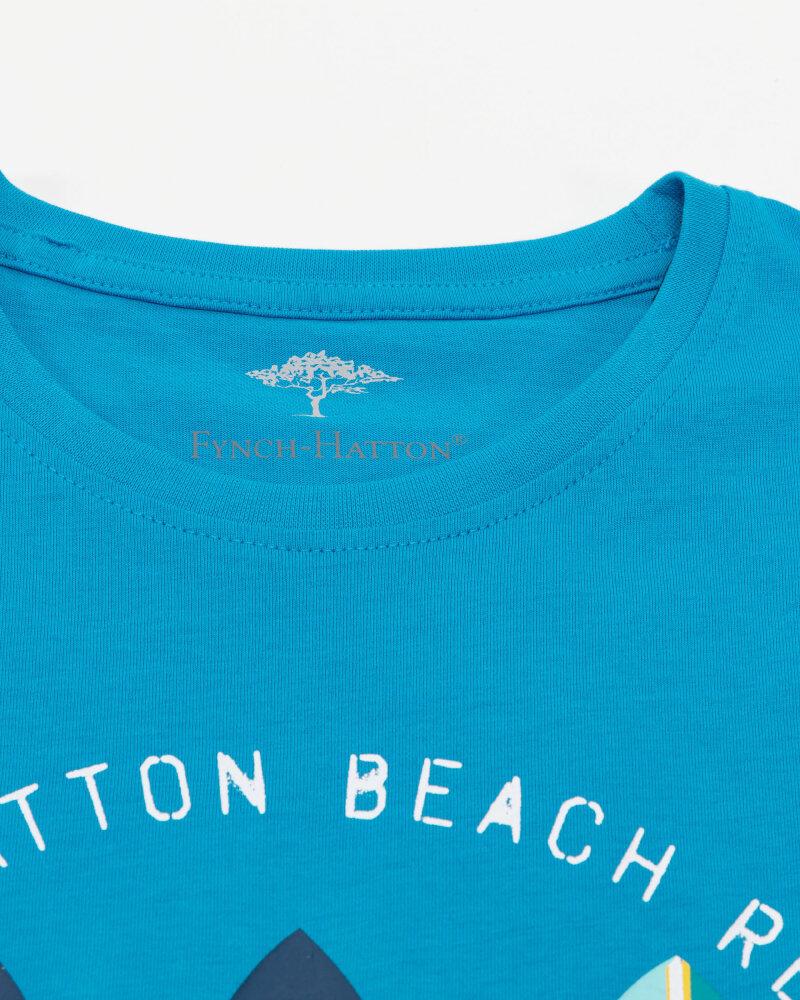 T-Shirt Fynch-Hatton 11211606_1671 niebieski - fot:2