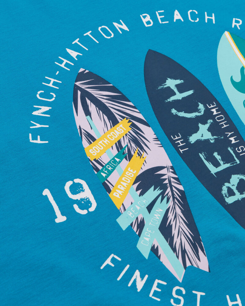 T-Shirt Fynch-Hatton 11211606_1671 niebieski - fot:3