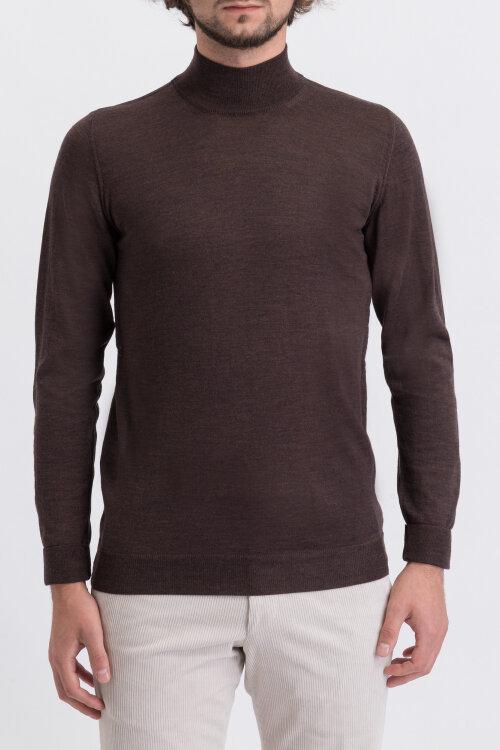 Sweter Oscar Jacobson HILTON 6604_8023_534 brązowy