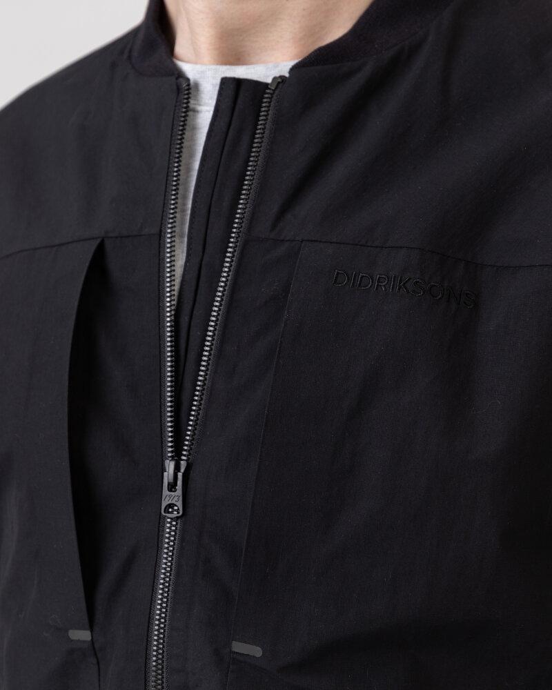 Kurtka Didriksons 503022_Dag Men's Jacket_060 czarny - fot:3