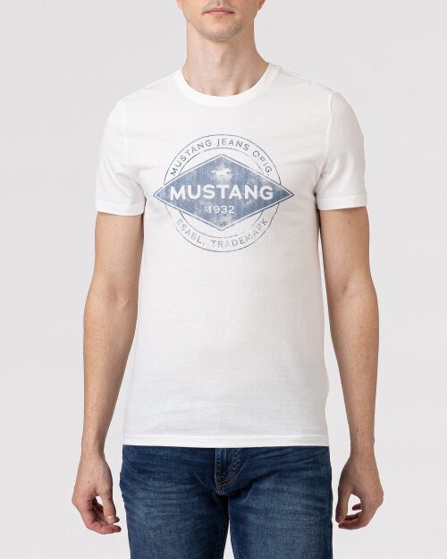 T-Shirt Mustang 1010706_2020 biały