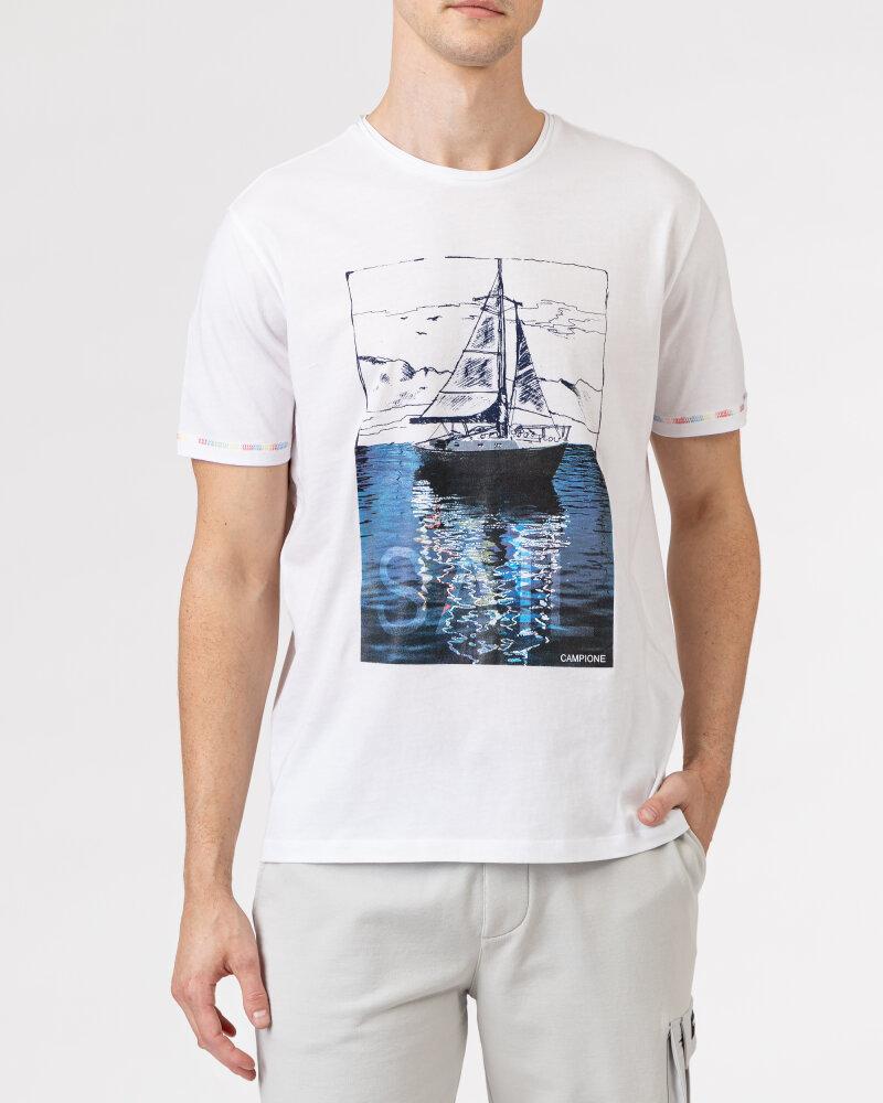 T-Shirt Campione 1098042_111130_10000 biały - fot:2