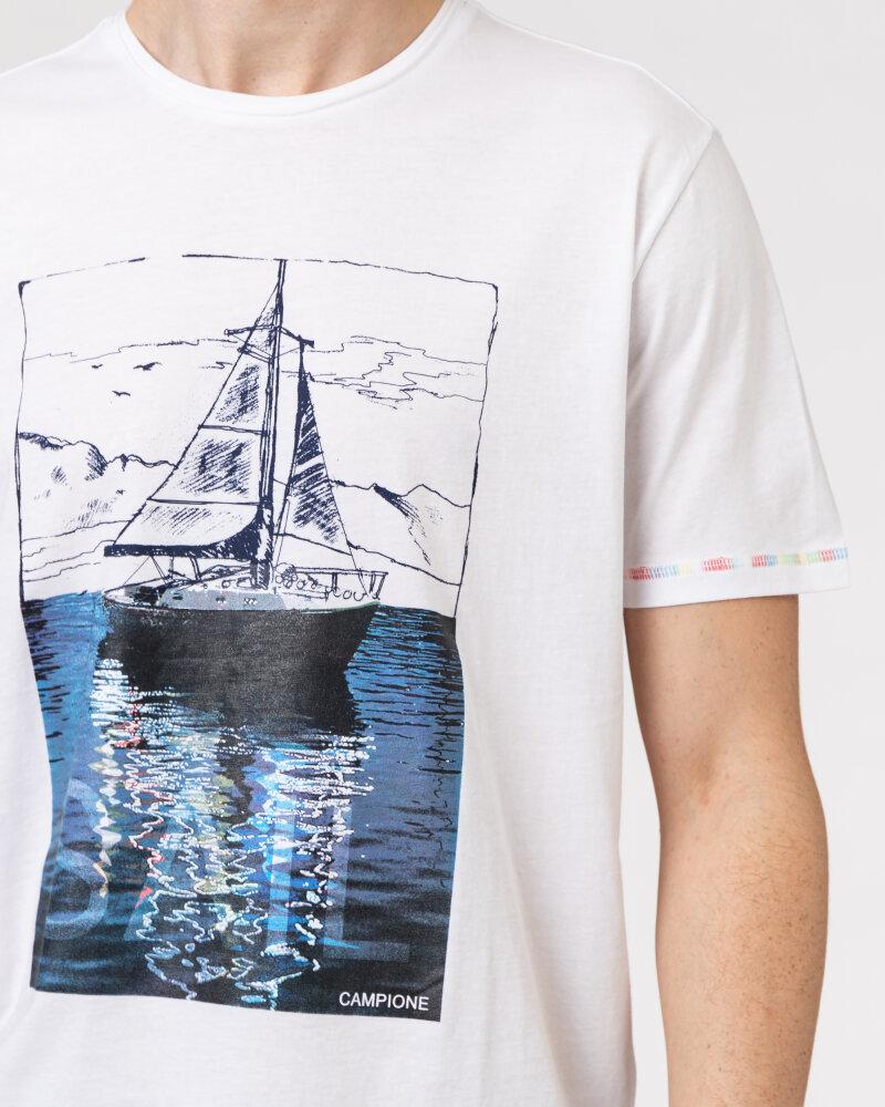 T-Shirt Campione 1098042_111130_10000 biały - fot:3