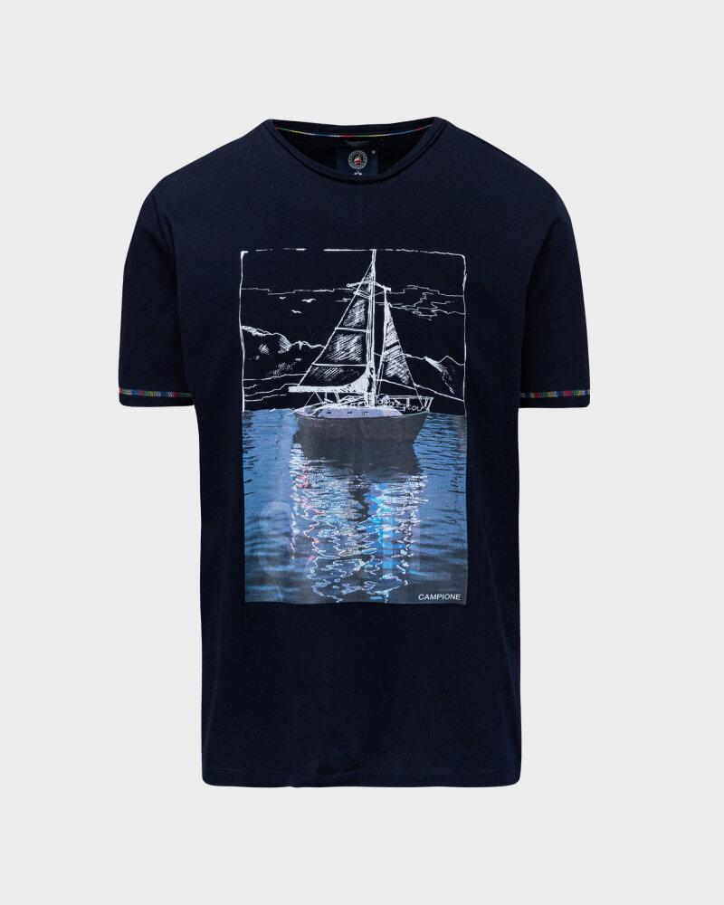 T-Shirt Campione 1098042_111130_85400 granatowy - fot:1
