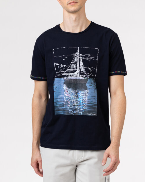T-Shirt Campione 1098042_111130_85400 granatowy