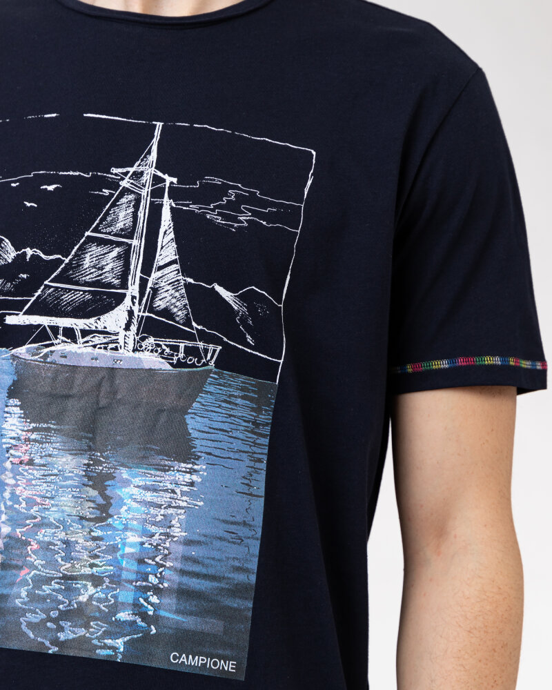 T-Shirt Campione 1098042_111130_85400 granatowy - fot:3