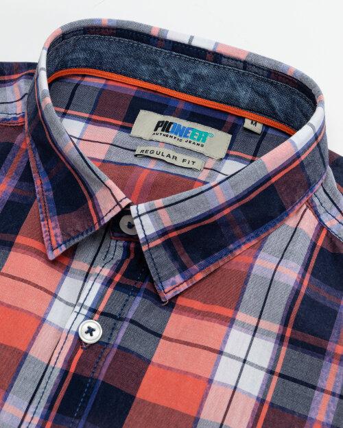 Koszula Pioneer Authentic Jeans 04353_07312_917 czerwony