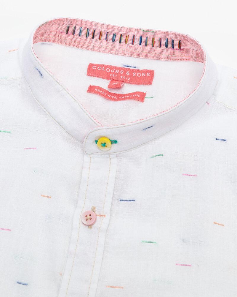 Koszula Colours & Sons 9121-230_231 WHITE NEPS biały - fot:2