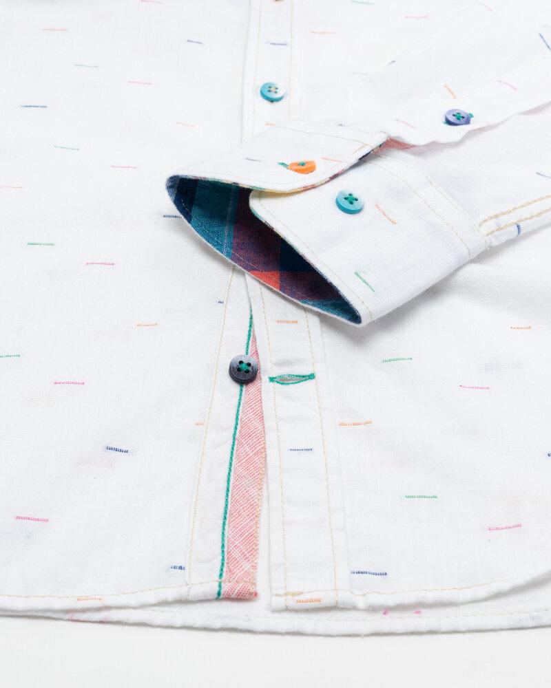 Koszula Colours & Sons 9121-230_231 WHITE NEPS biały - fot:3