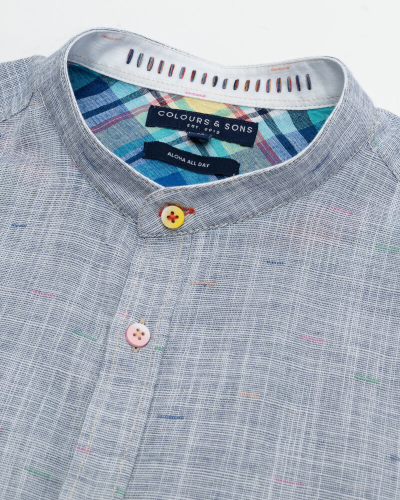 Koszula Colours & Sons 9121-230_237 MIDNIGHT NEPS niebieski - fot:2