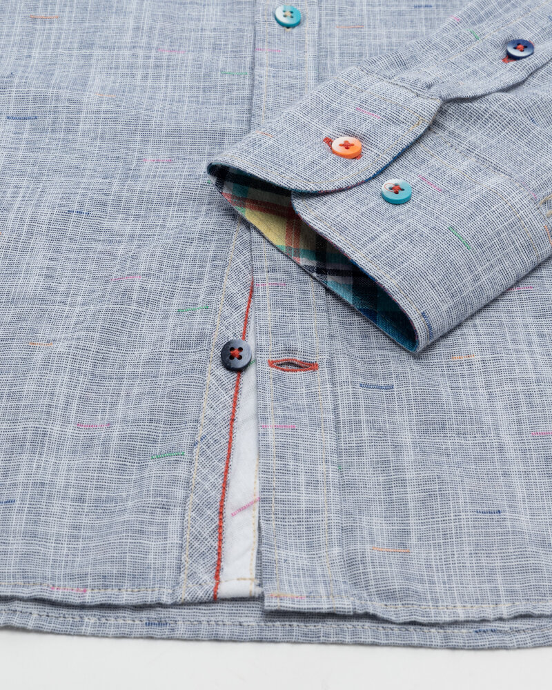 Koszula Colours & Sons 9121-230_237 MIDNIGHT NEPS niebieski - fot:3