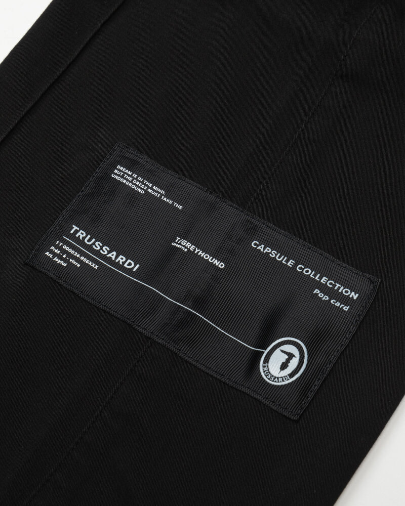 Spodnie Trussardi  52P00192_1T005154_K299 czarny - fot:3