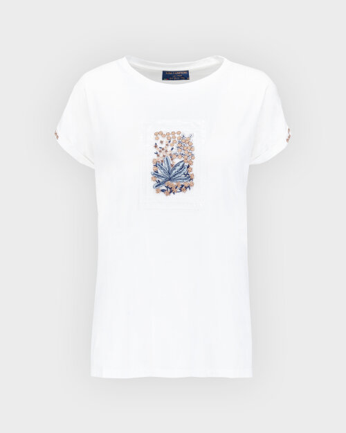 T-Shirt Campione 1873434_121130_40100 Biały Campione 1873434_121130_40100 biały