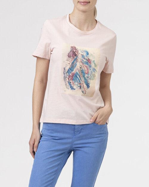 T-Shirt Na-Kd 1018-006871_PINK pudrowy róż