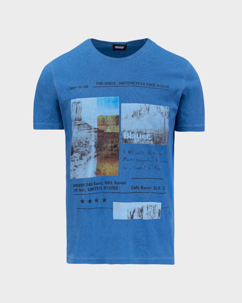 T-Shirt Blauer BLUH02390_801 niebieski - fot:1