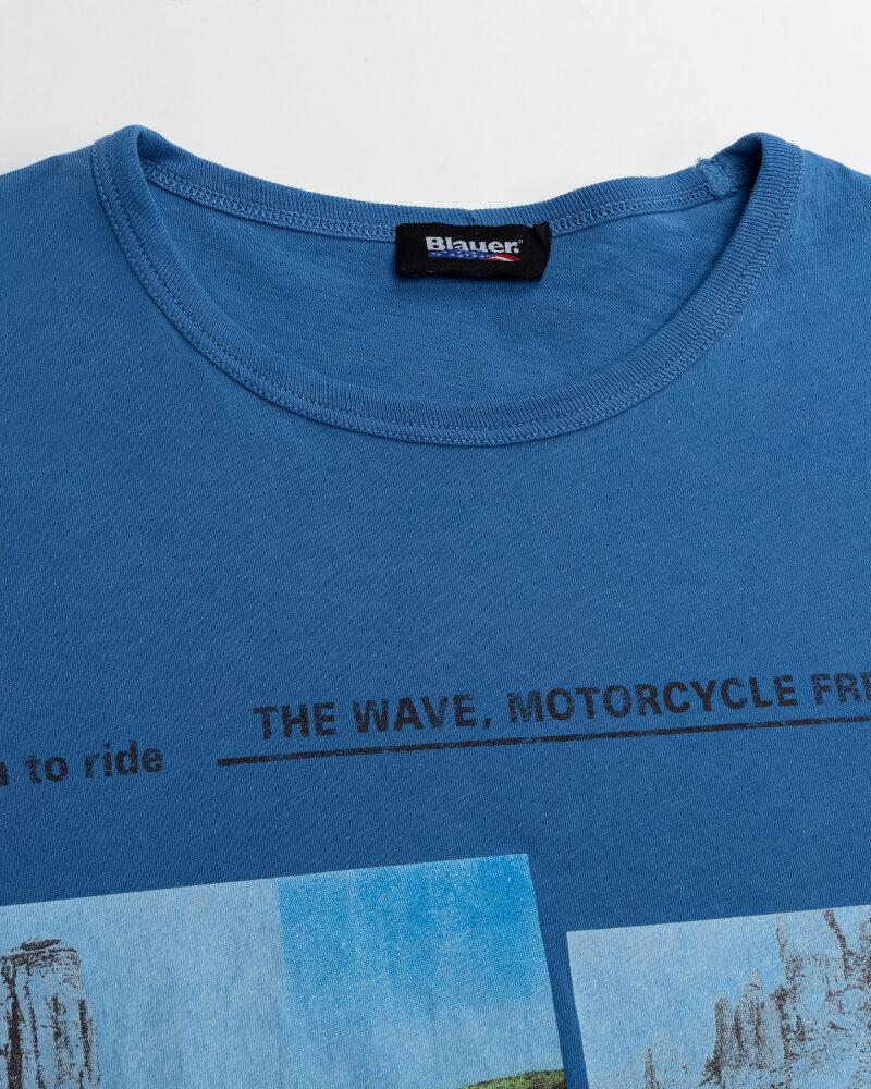 T-Shirt Blauer BLUH02390_801 niebieski - fot:2