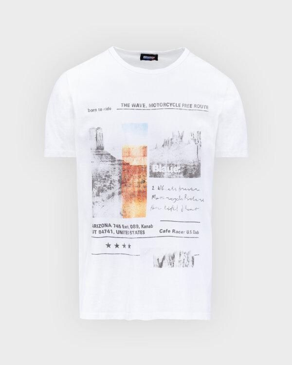T-Shirt Blauer BLUH02390_100 biały
