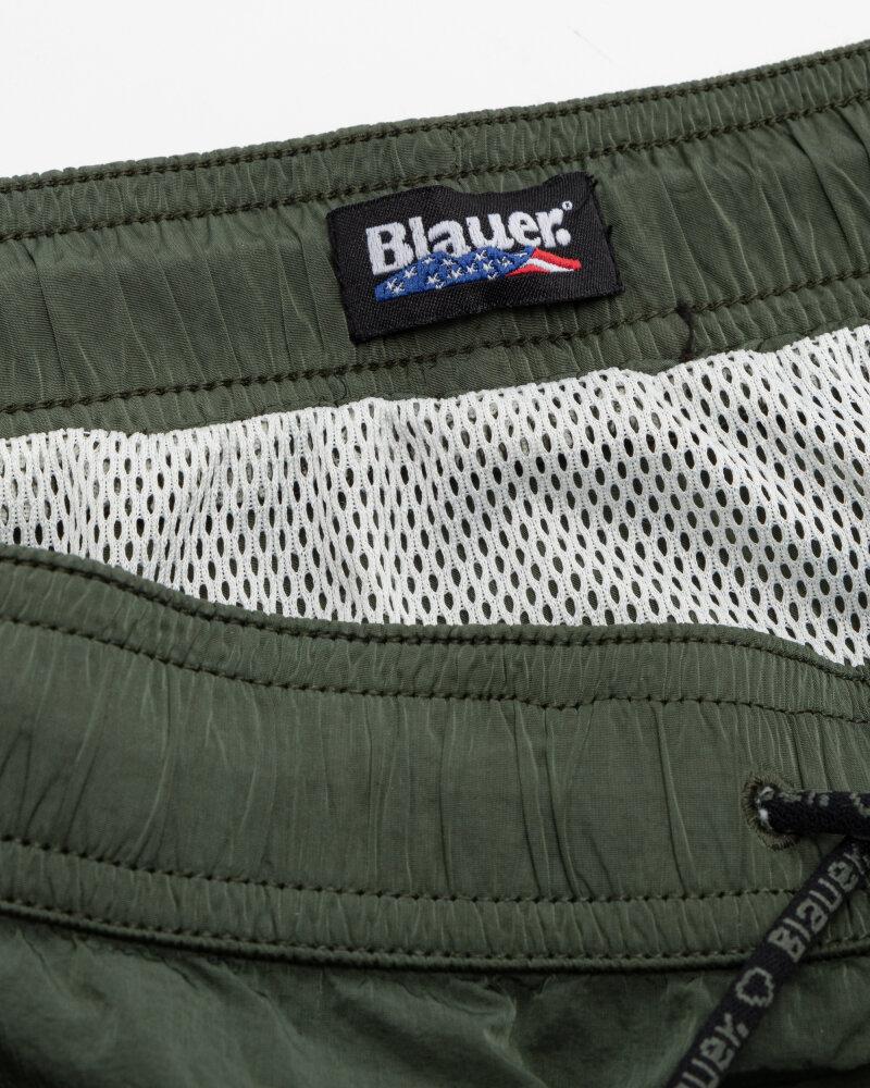 Szorty Blauer BLUN02418_702 khaki - fot:4