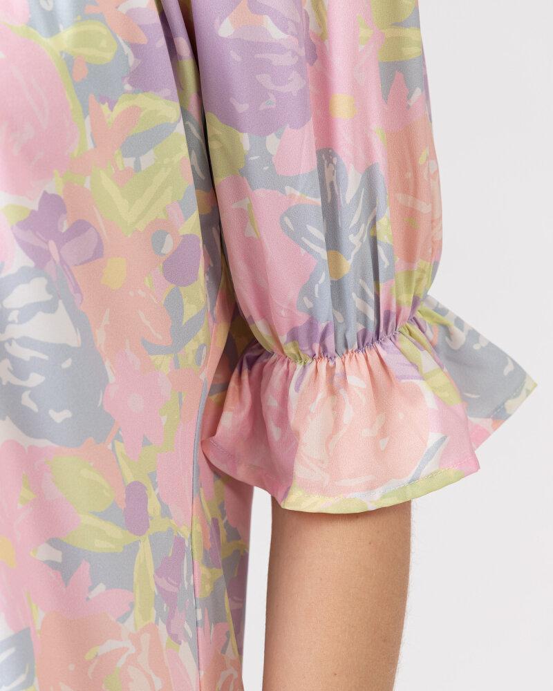 Sukienka Na-Kd 1018-006815_FLOWER PRINT wielobarwny - fot:4