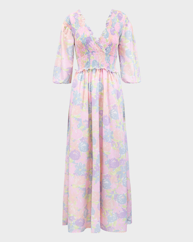 Sukienka Na-Kd 1018-006780_FLOWER PRINT wielobarwny - fot:1