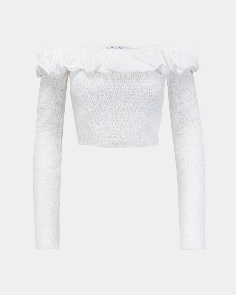 Bluzka Na-Kd 1018-006810_WHITE biały - fot:1
