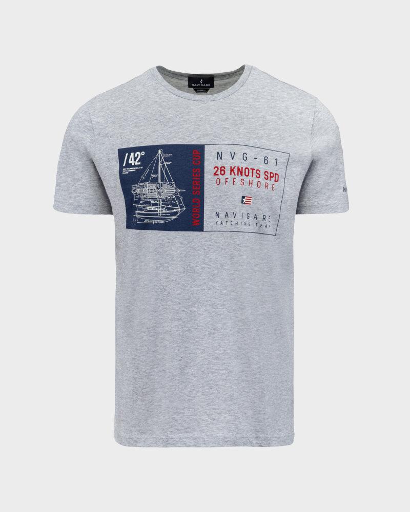 T-Shirt Navigare NV31144_007 szary - fot:1