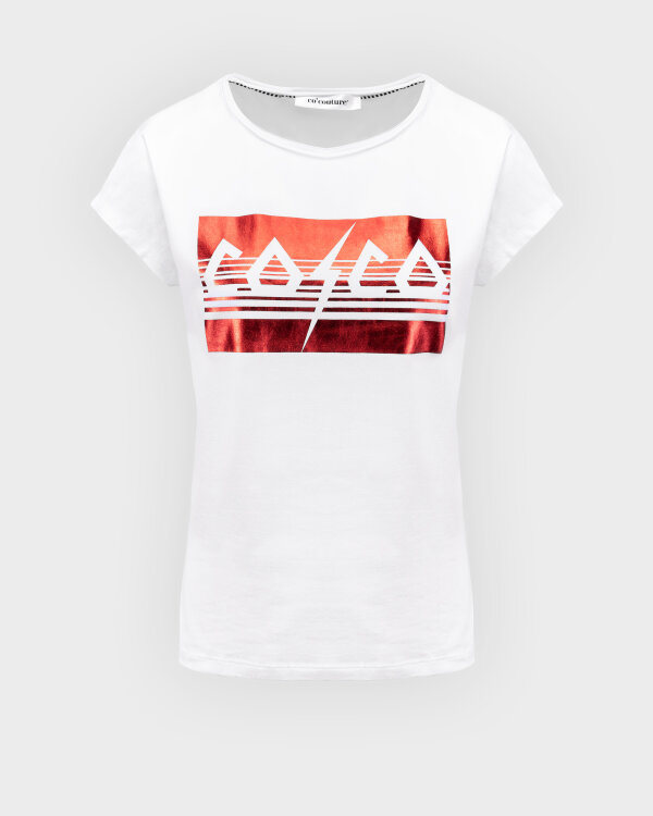T-Shirt Co'Couture 73091_COCO METALLICA_44 RIO RED biały