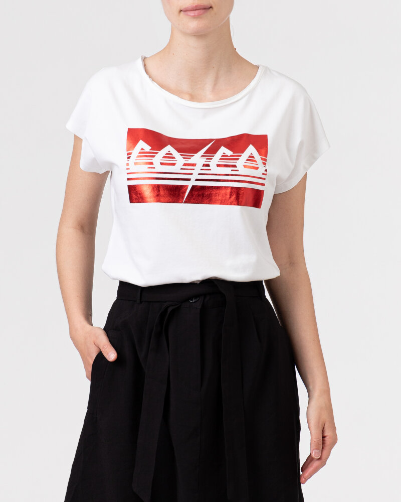T-Shirt Co'Couture 73091_COCO METALLICA_44 RIO RED biały - fot:2
