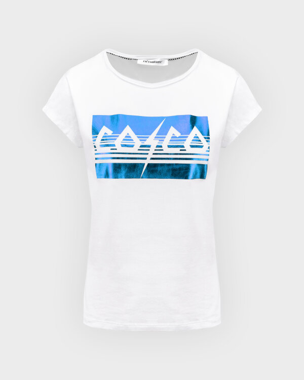 T-Shirt Co'Couture 73091_COCO METALLICA_76 NEW BLUE biały