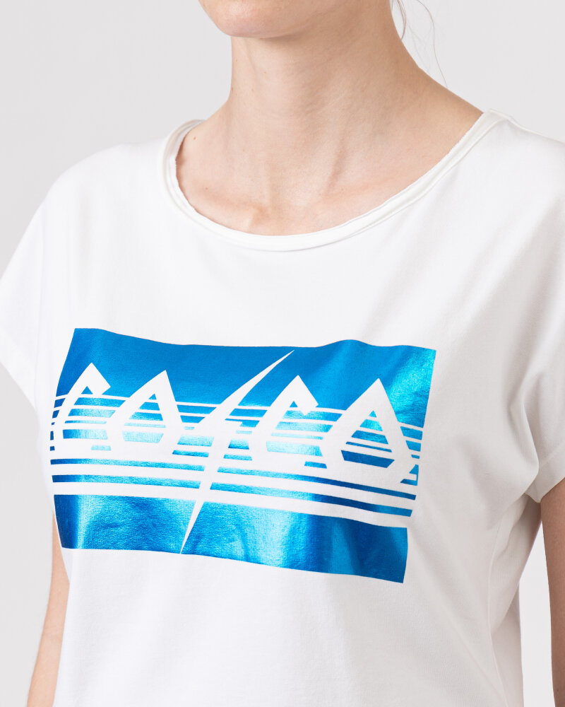T-Shirt Co'Couture 73091_COCO METALLICA_76 NEW BLUE biały - fot:3