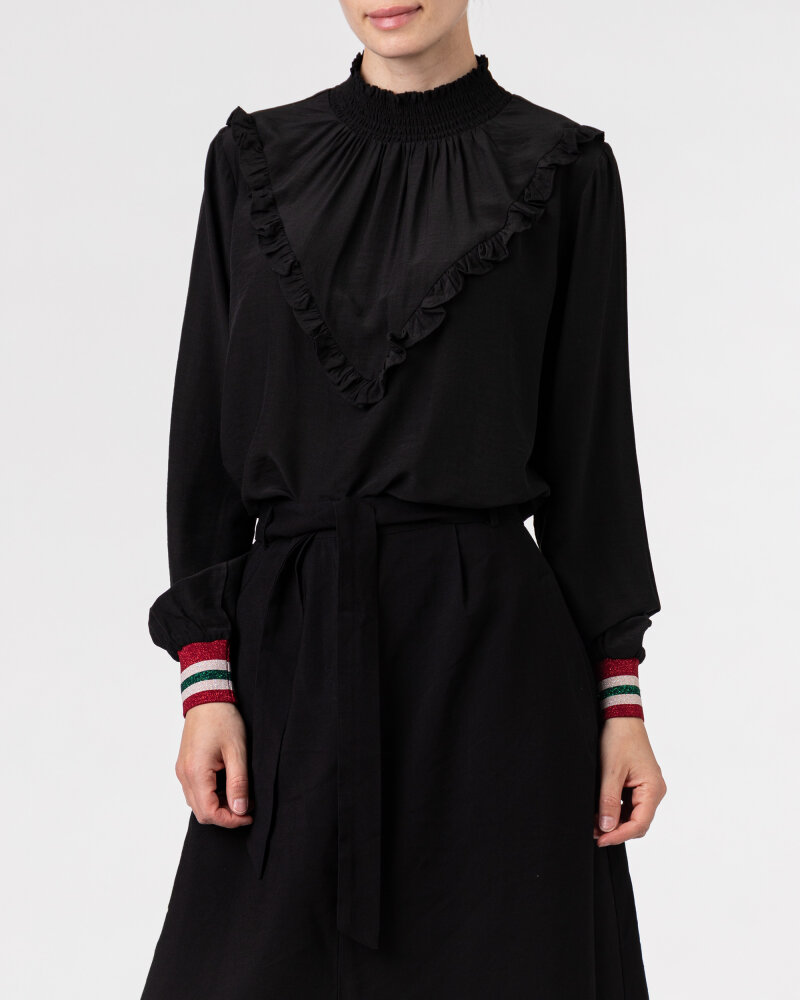 Bluzka Co'Couture 75520_FELINE FRILL_96 BLACK czarny - fot:2