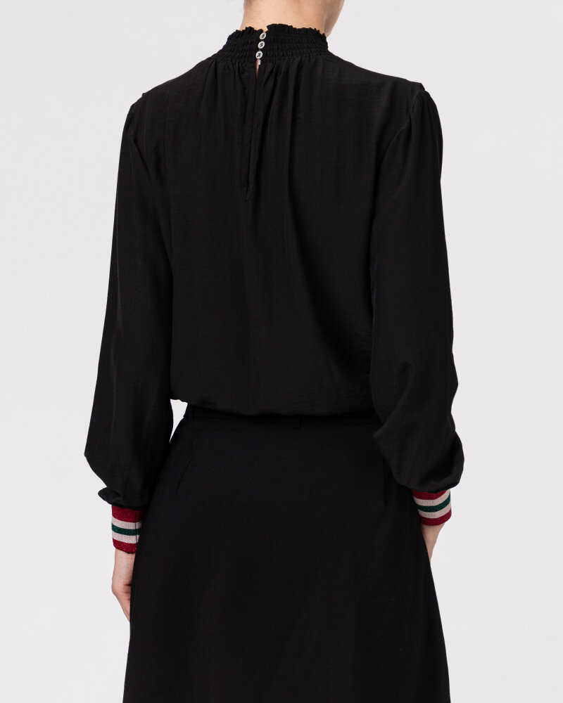 Bluzka Co'Couture 75520_FELINE FRILL_96 BLACK czarny - fot:4
