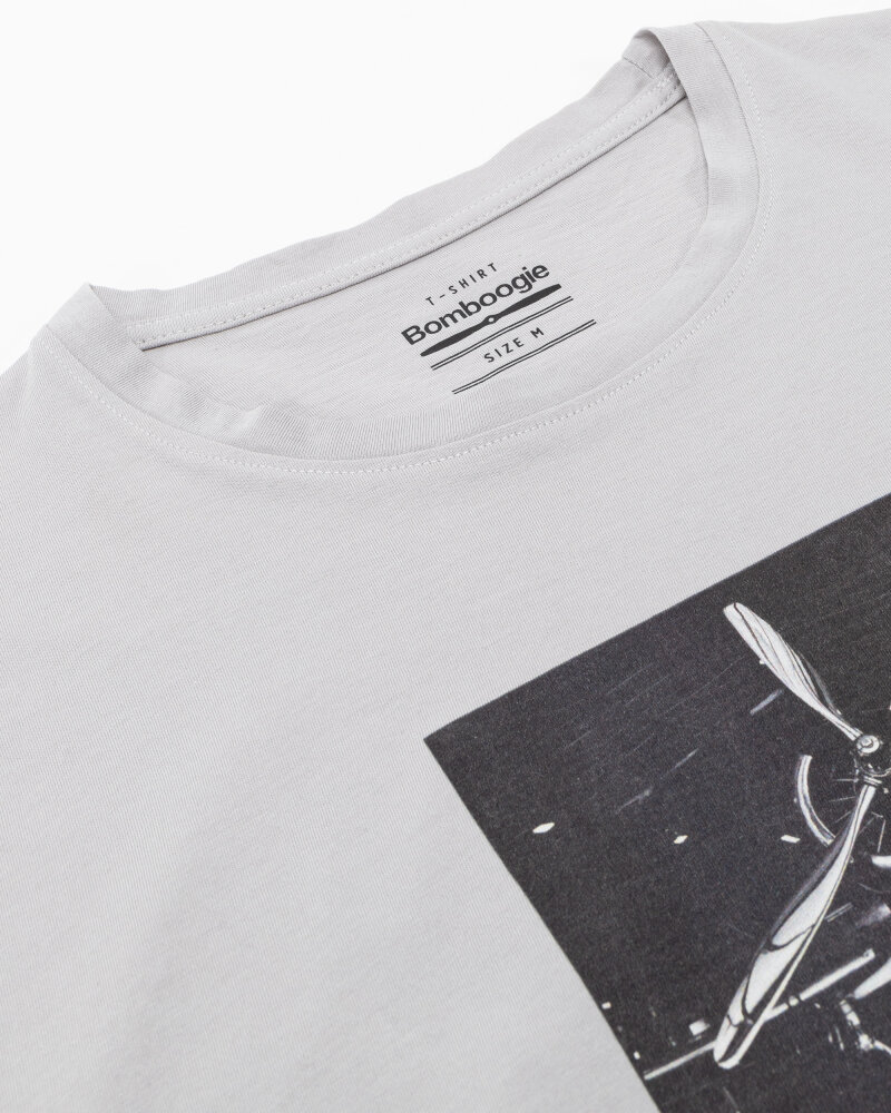 T-Shirt Bomboogie TM6982_JSEL_58 jasnoszary - fot:2