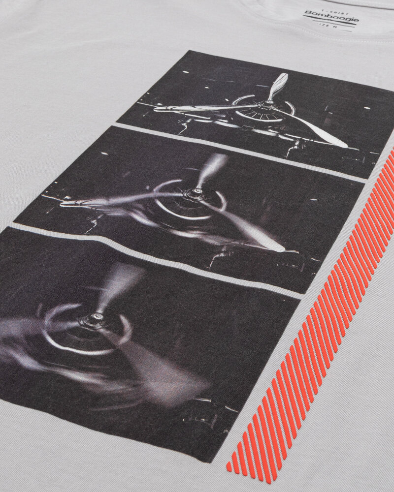 T-Shirt Bomboogie TM6982_JSEL_58 jasnoszary - fot:3