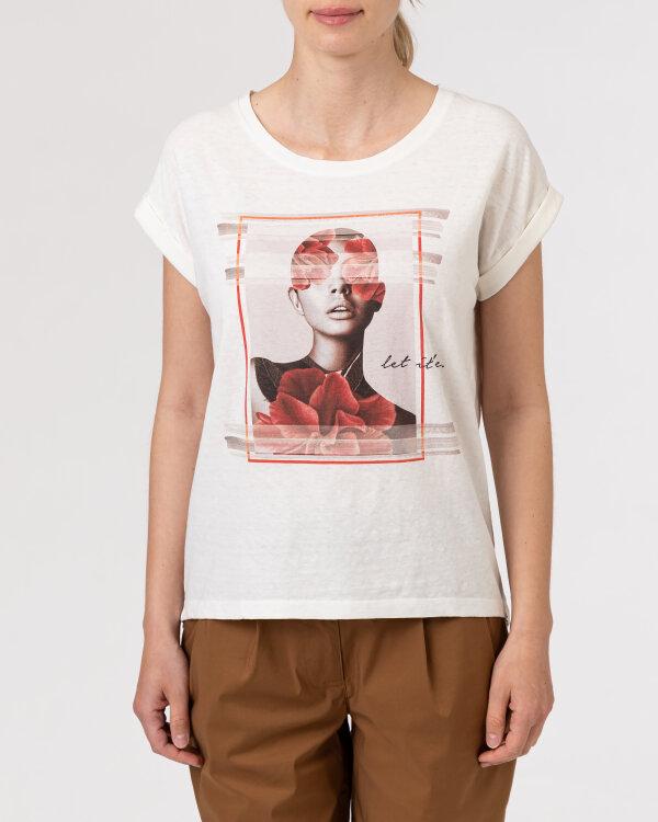 T-Shirt Bomboogie TW7019_JSNS_48 kremowy