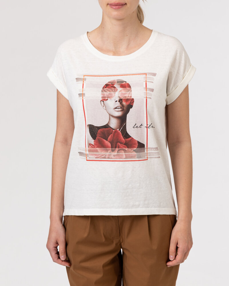T-Shirt Bomboogie TW7019_JSNS_48 kremowy - fot:2