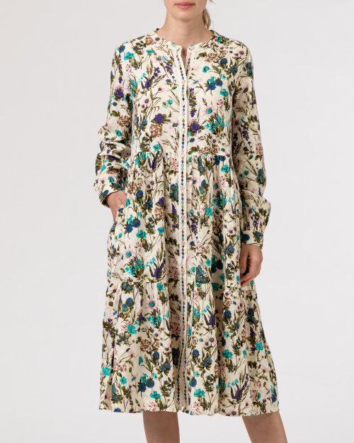 Sukienka Lollys Laundry 21175_3056_FLOWER PRINT kremowy
