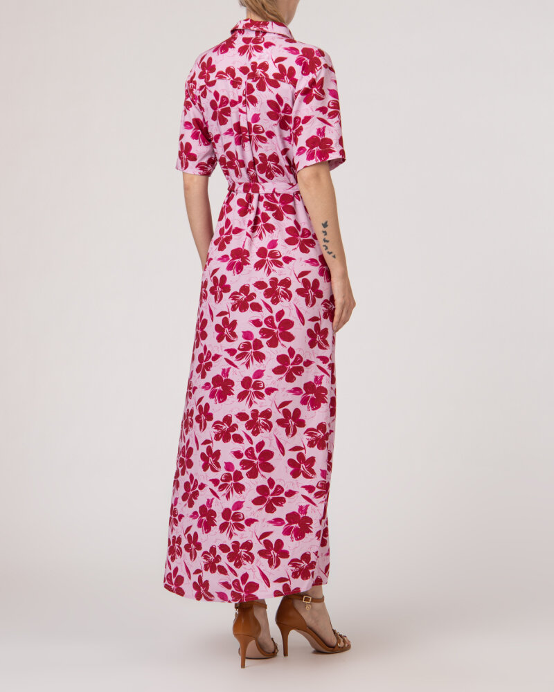 Sukienka Na-Kd 1018-006907_RED FLOWER fioletowy - fot:4