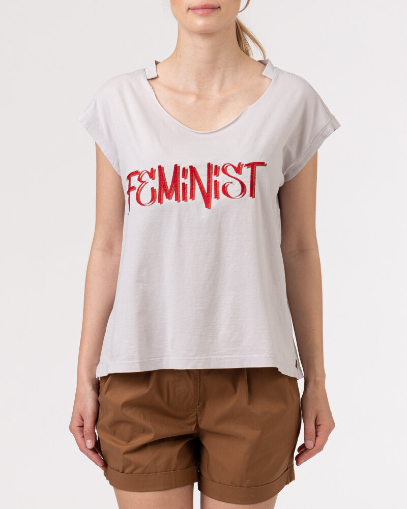 T-Shirt Bomboogie TW6963_JSEY_58 jasnoszary - fot:2