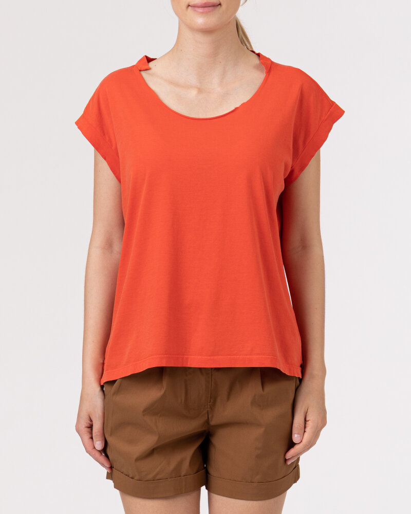 T-Shirt Bomboogie TW6961_JSEY_40 czerwony - fot:2