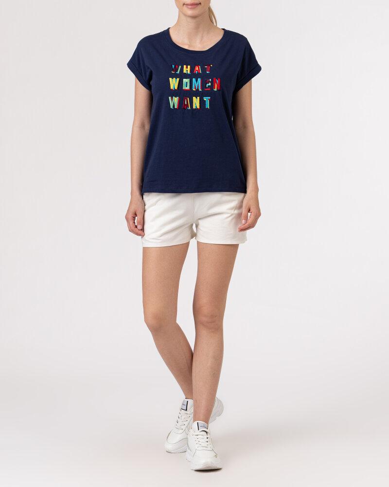 T-Shirt Bomboogie TW6950_JIN_20 granatowy - fot:5